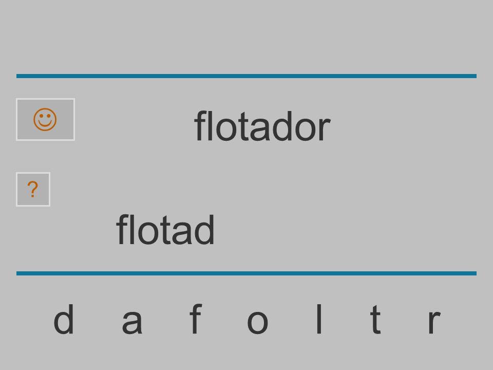 flota d a f o l t r ? flotador