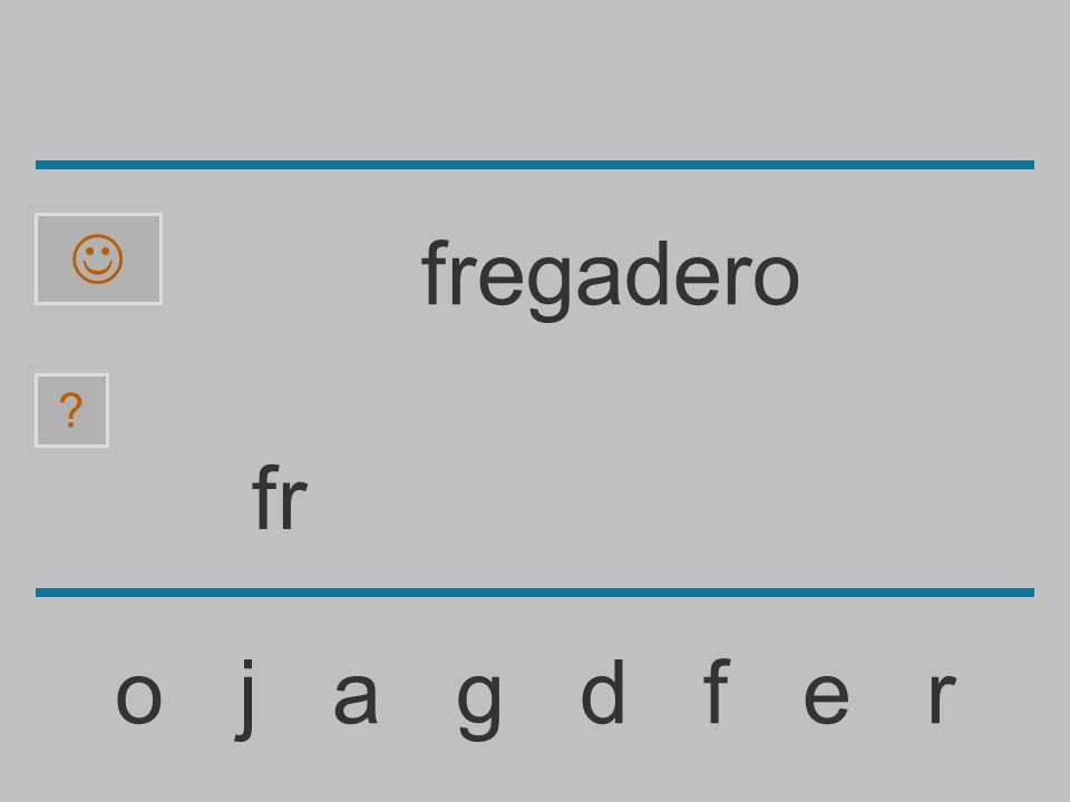 f o j a g d f e r fregadero