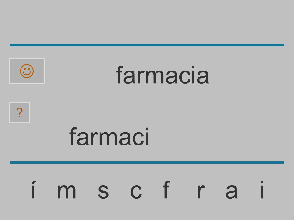 farmac í m s c f r a i ? farmacia