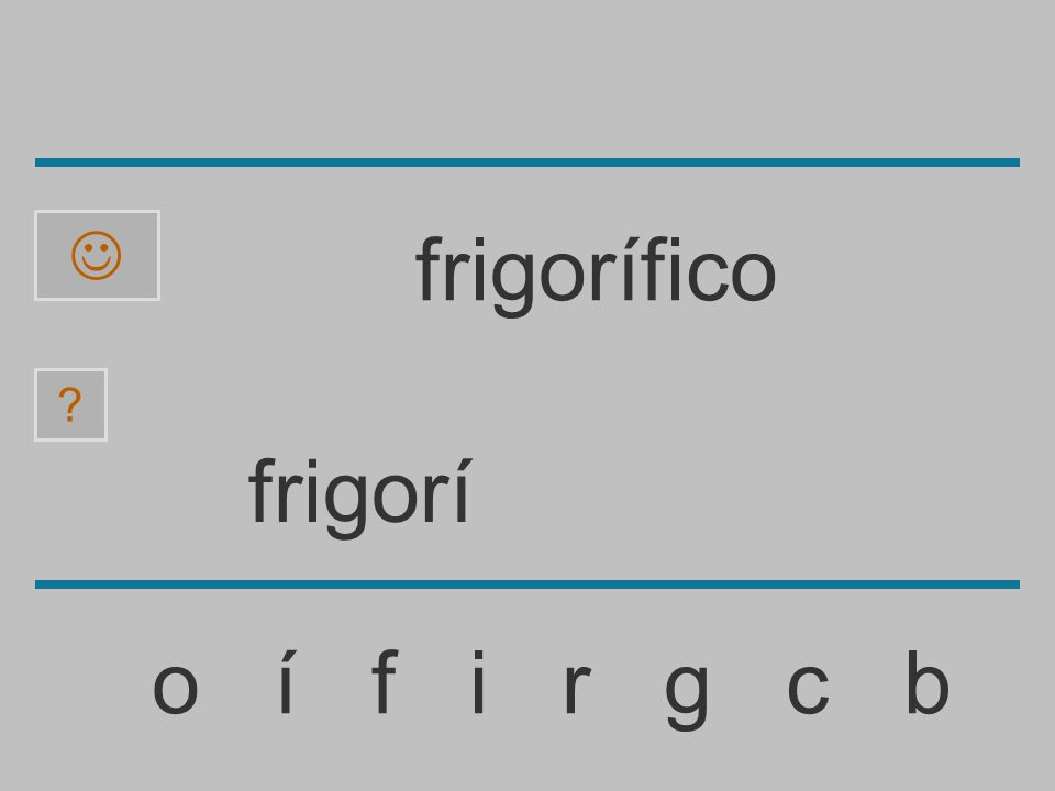 frigor o í f i r g c b ? frigorífico