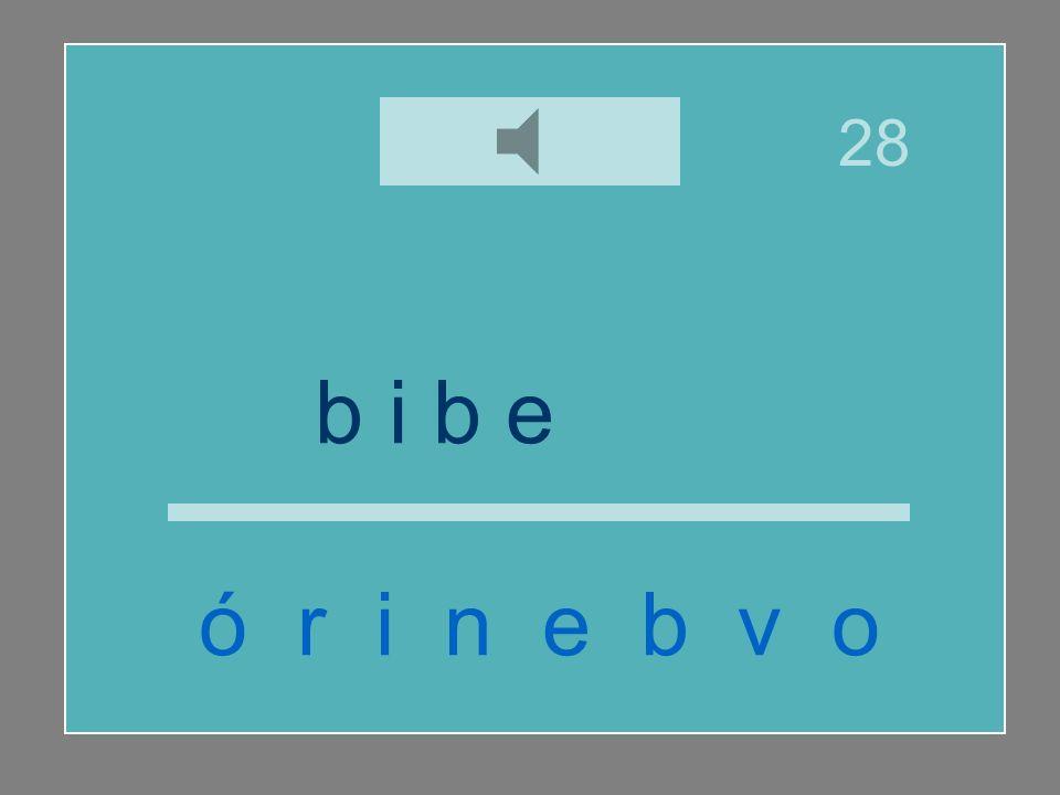 b i b e r ó n ó r i n e b v o 28