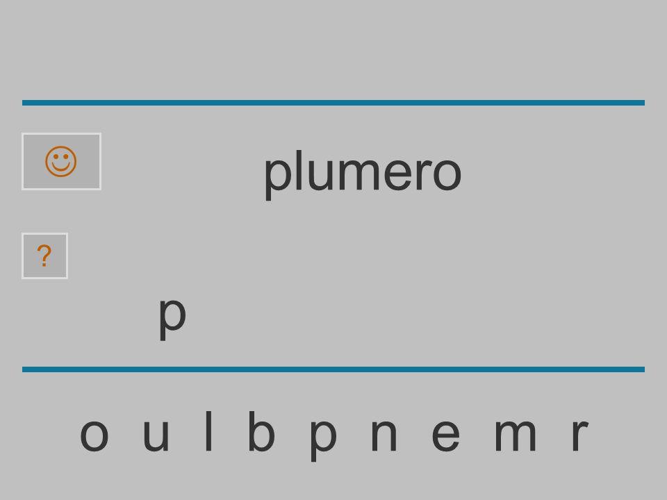 ......................... o u l b p n e m r ? plumero