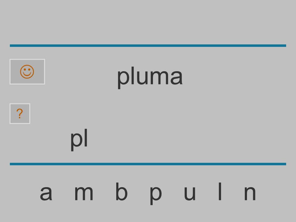 p a m b p u l n ? pluma