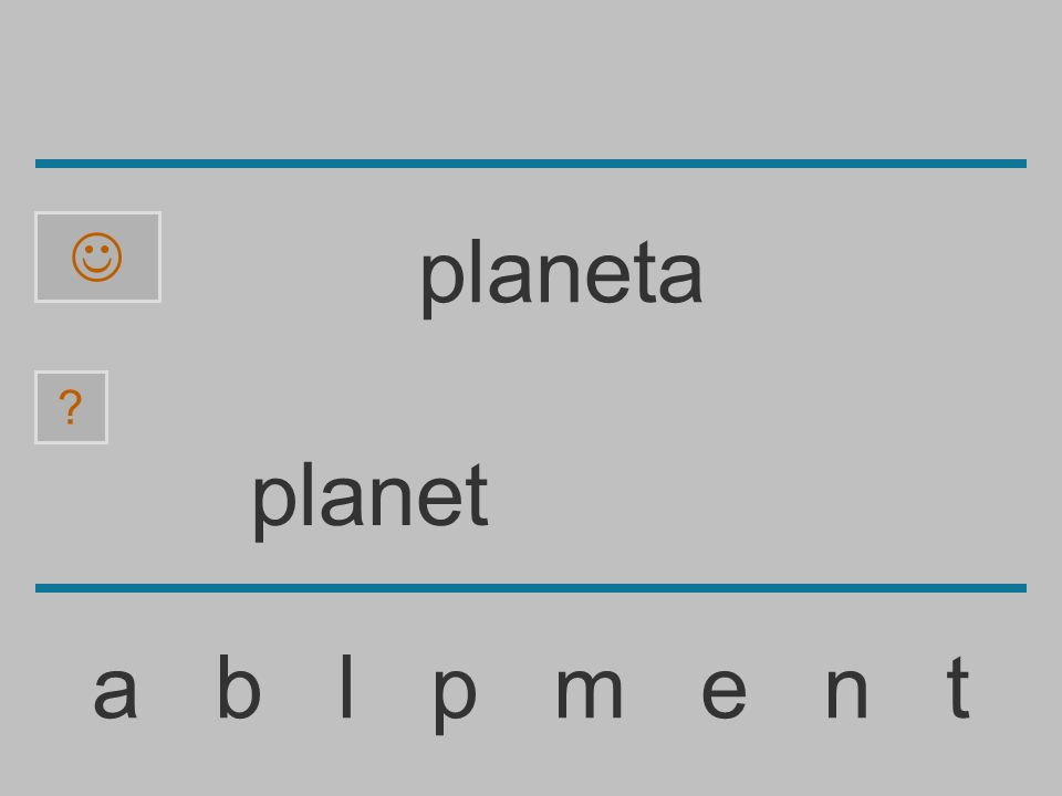 plane a b l p m e n t ? planeta