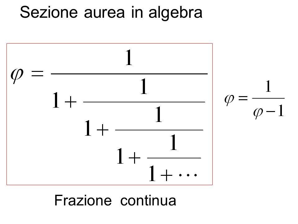Sezione aurea in algebra Frazione continua