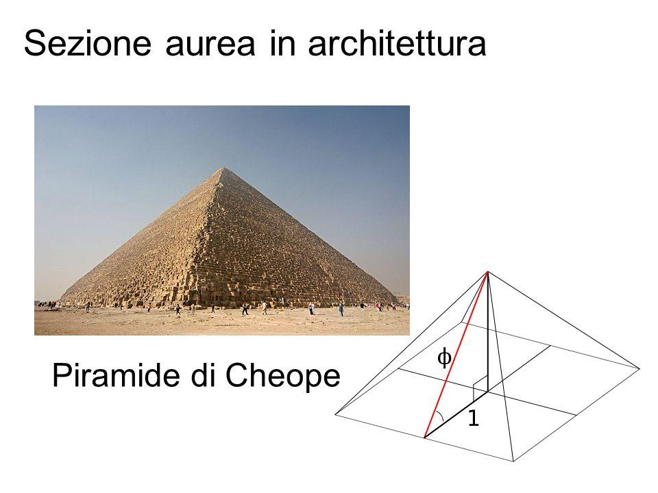 Piramide di Cheope Sezione aurea in architettura