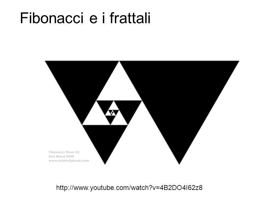 http://www.youtube.com/watch?v=4B2DO4I62z8 Fibonacci e i frattali
