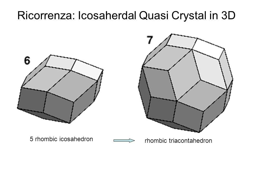 rhombic triacontahedron 5 rhombic icosahedron Ricorrenza: Icosaherdal Quasi Crystal in 3D