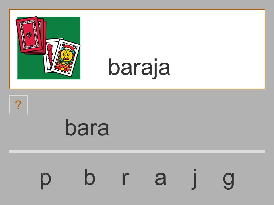 bar p b r a j g baraja