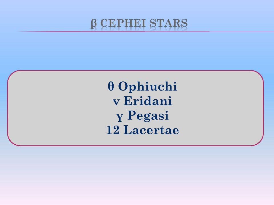 θ Ophiuchi ν Eridani γ Pegasi 12 Lacertae