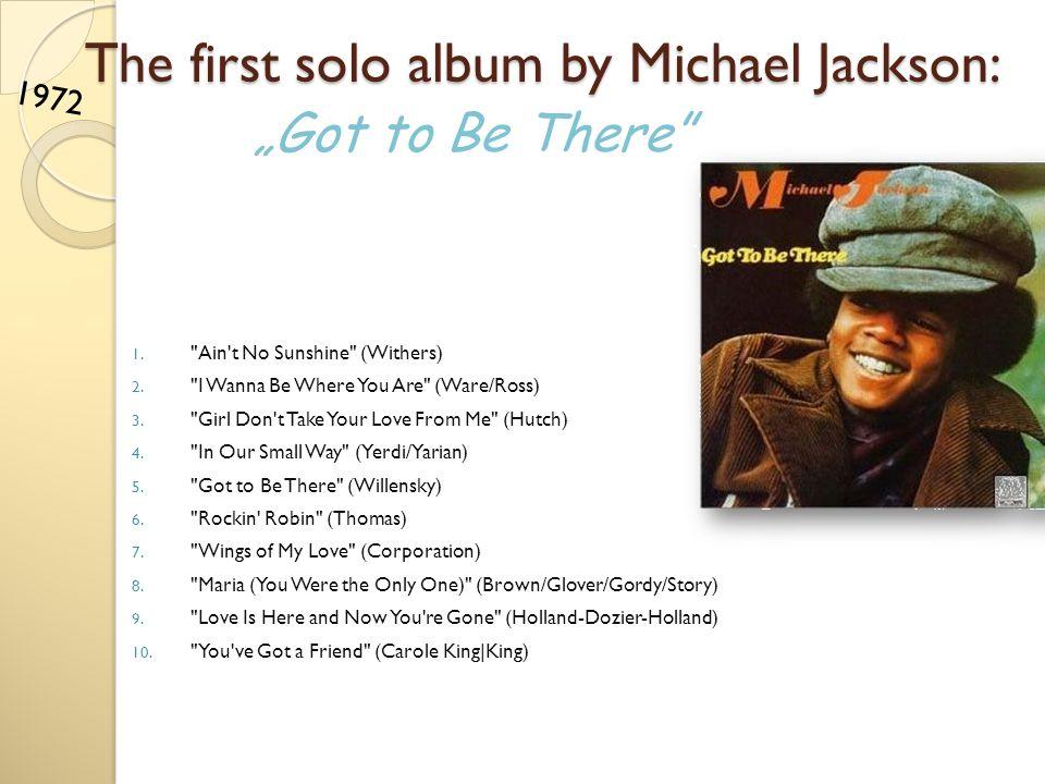 The second album by Michael Jackson: 1. Ben (Black/Scharf) 2.