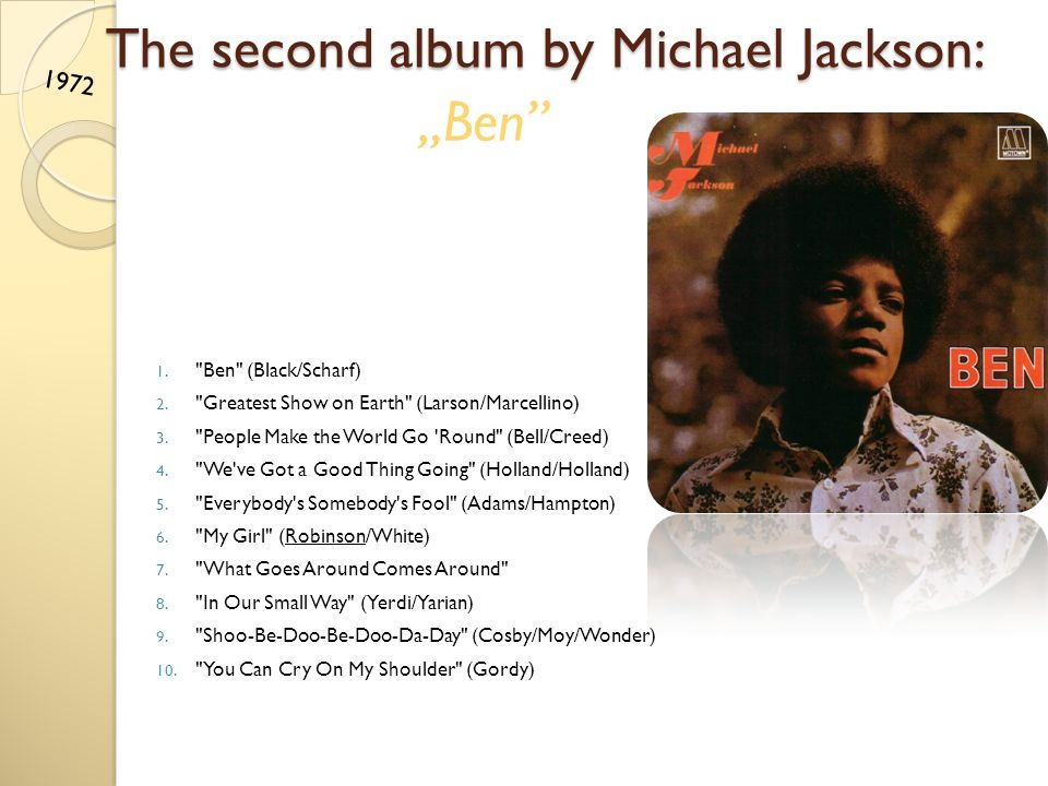 The second album by Michael Jackson: 1.