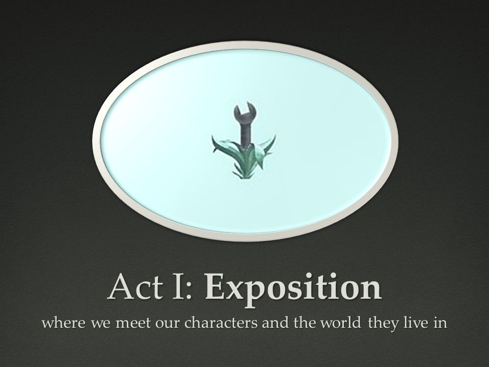 Act I: Exposition where we meet our characters and the world they live in