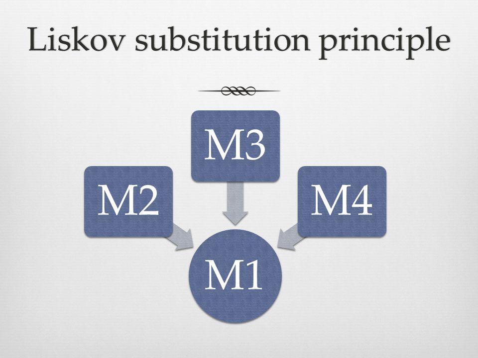 Liskov substitution principleLiskov substitution principle M1 M2M3M4