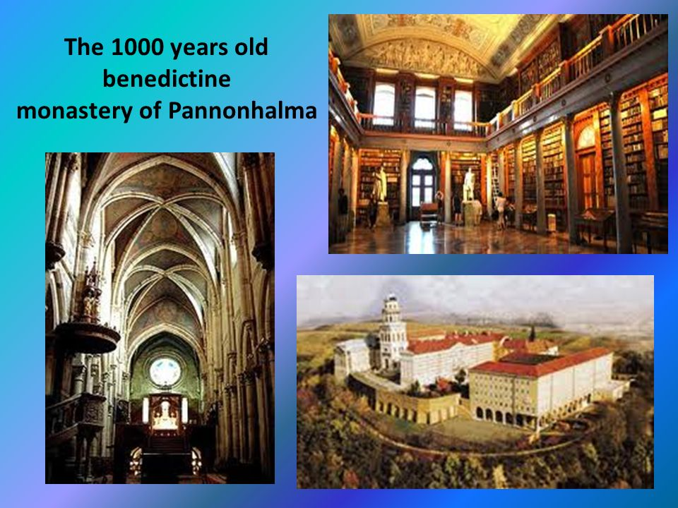The 1000 years old benedictine monastery of Pannonhalma