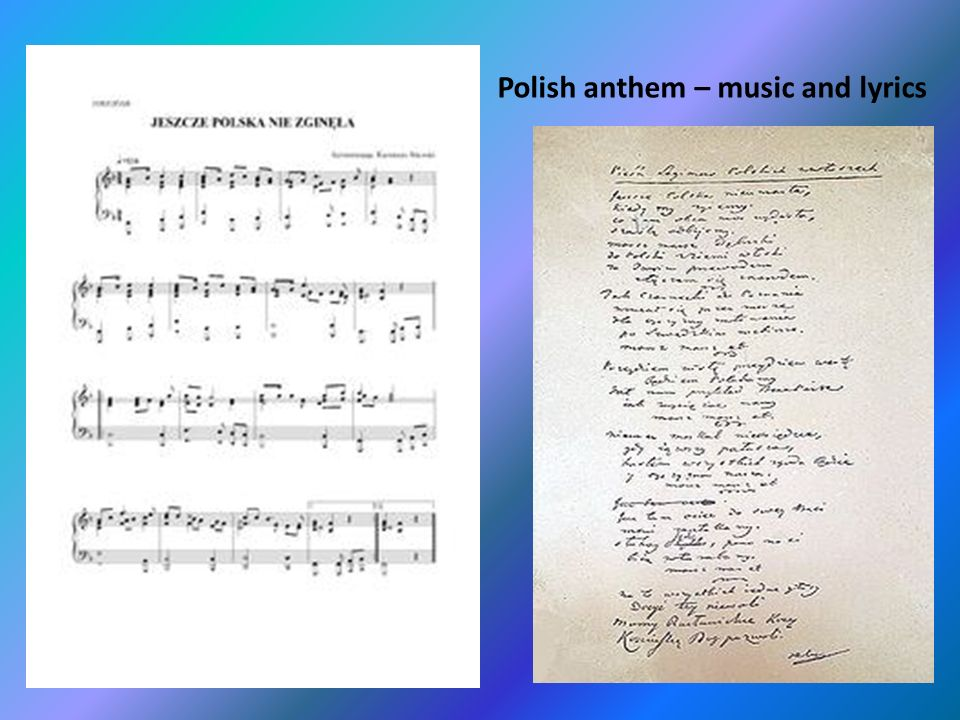 Polish anthem – music and lyrics