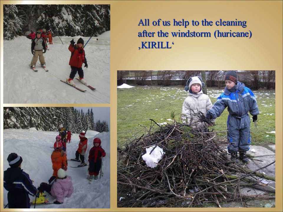 All of us help to the cleaning after the windstorm (huricane) KIRILL