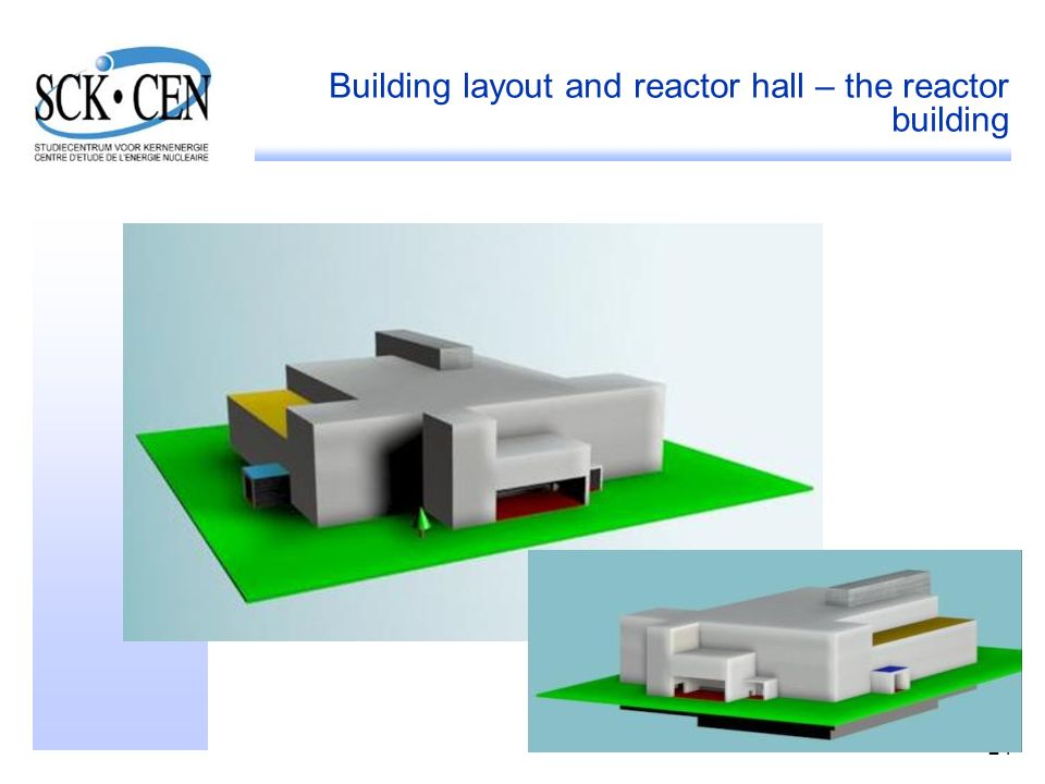 24 Building layout and reactor hall – the reactor building