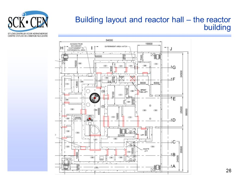 26 Building layout and reactor hall – the reactor building