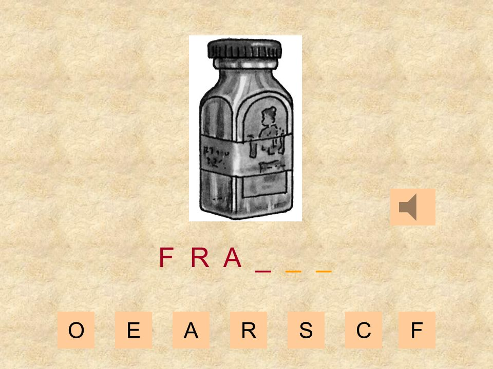 OEARSCF F R _ _ _ _