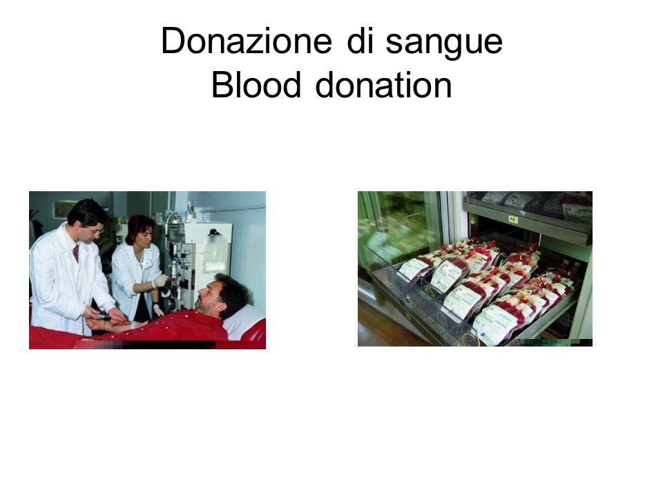 Donazione di sangue Blood donation