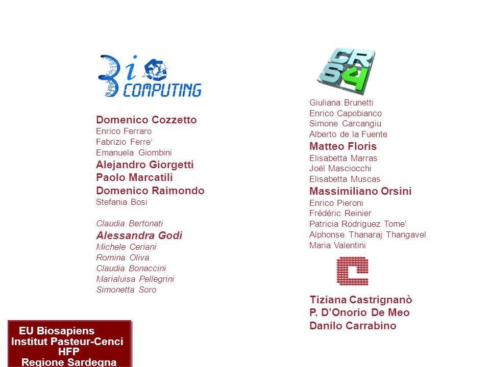 acknowledgements Giuliana Brunetti Enrico Capobianco Simone Carcangiu Alberto de la Fuente Matteo Floris Elisabetta Marras Joël Masciocchi Elisabetta