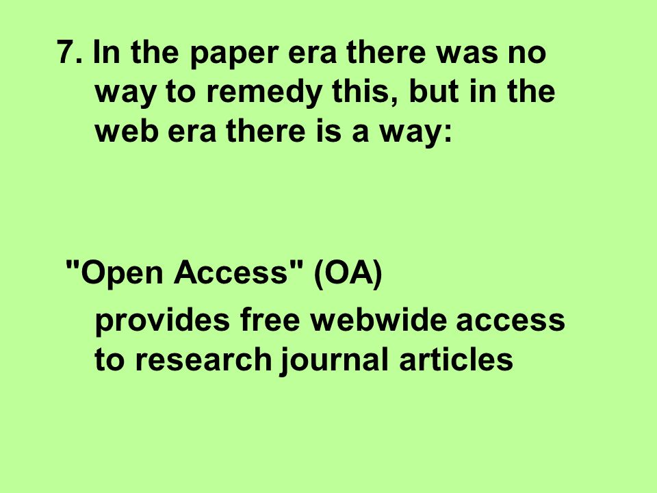 7. In the paper era there was no way to remedy this, but in the web era there is a way: