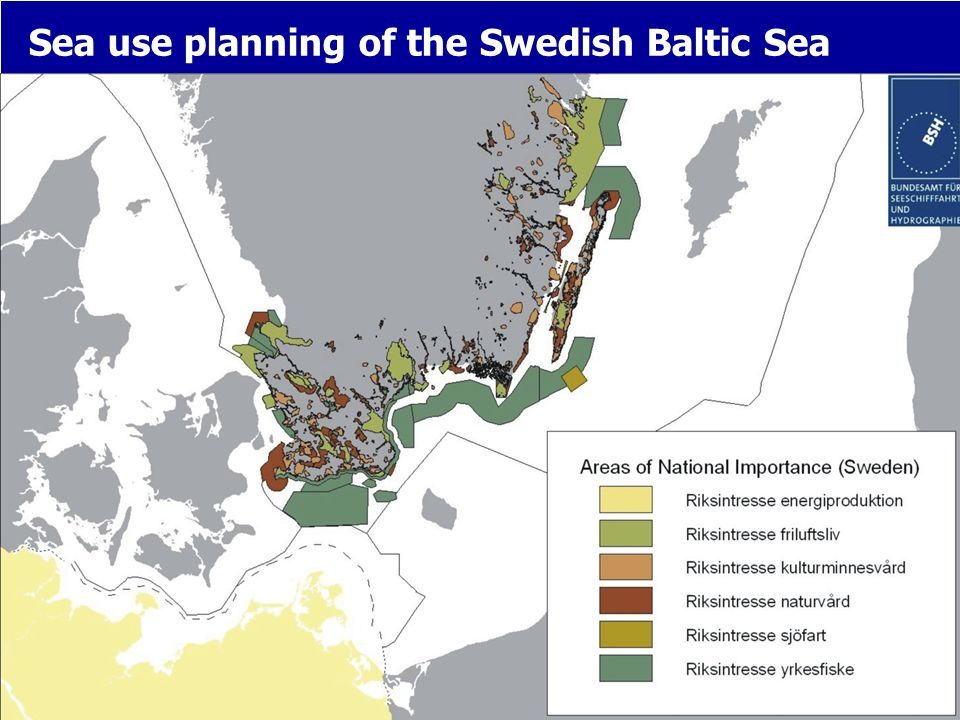 Sea use planning of the Swedish Baltic Sea