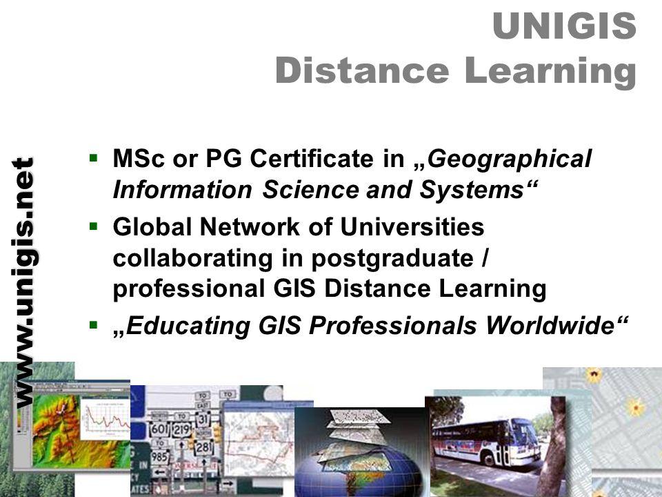 ZENTRUM FÜR GEOINFORMATIK SALZBURG CENTRE FOR GEOINFORMATICS SALZBURG UNI GIS UNIGIS Distance Learning MSc or PG Certificate in Geographical Informati