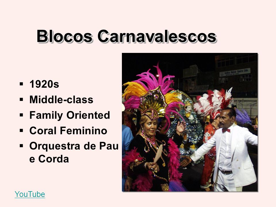 Blocos Carnavalescos 1920s Middle-class Family Oriented Coral Feminino Orquestra de Pau e Corda YouTube