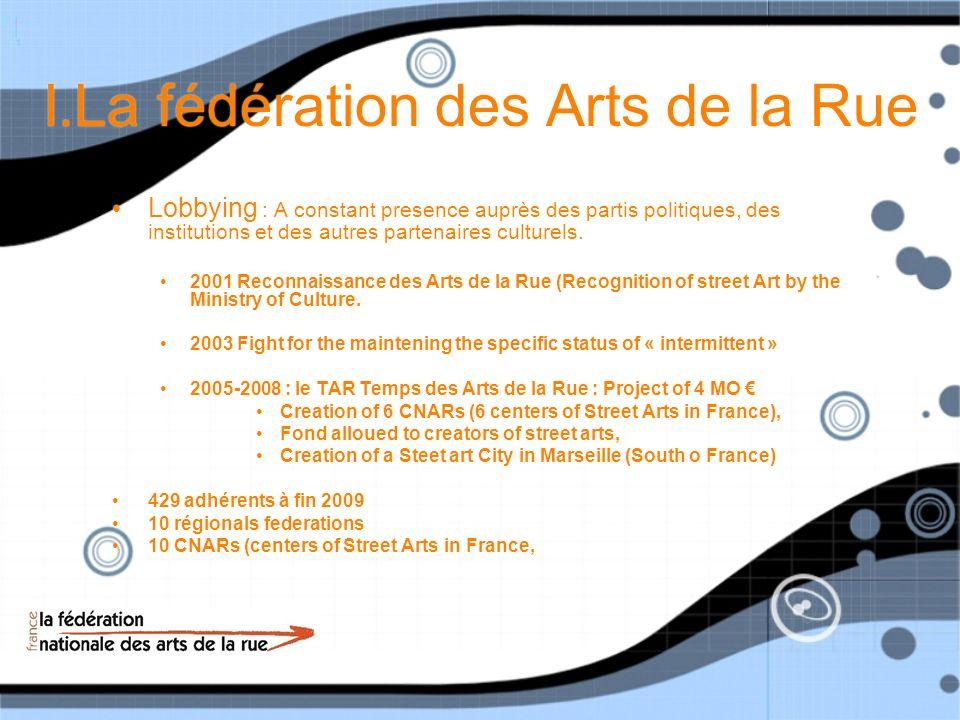 I.La fédération des Arts de la Rue How does it work .