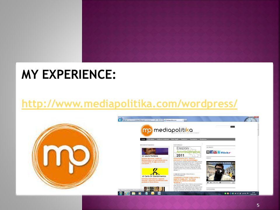 h h 5 MY EXPERIENCE: http://www.mediapolitika.com/wordpress/