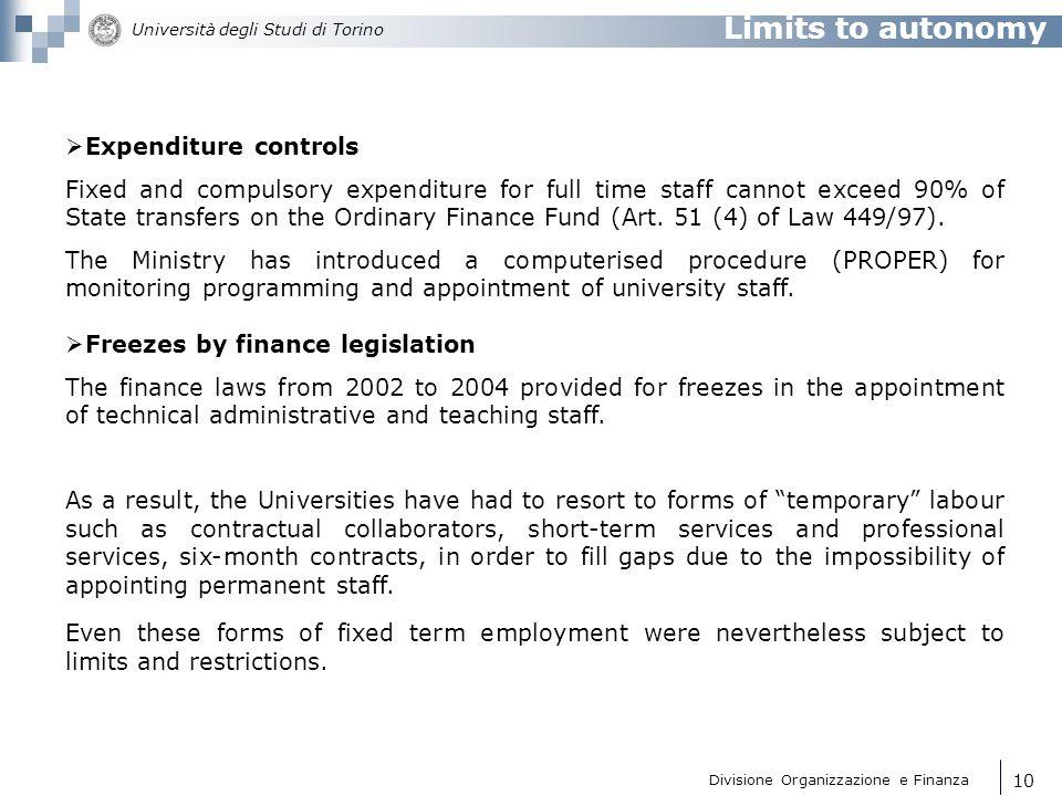 Divisione Organizzazione e Finanza Università degli Studi di Torino 11 National procedures for technical suitability (Art.