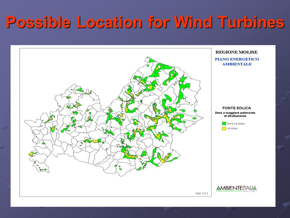 Possible Location for Wind Turbines