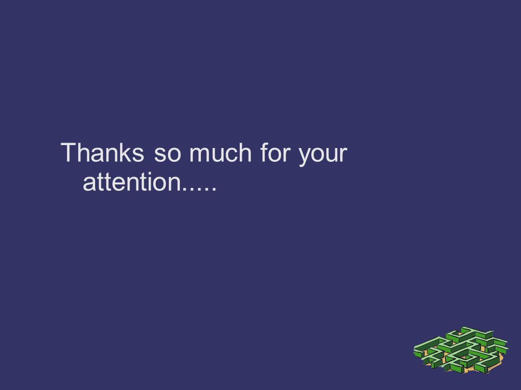 Thanks so much for your attention.....