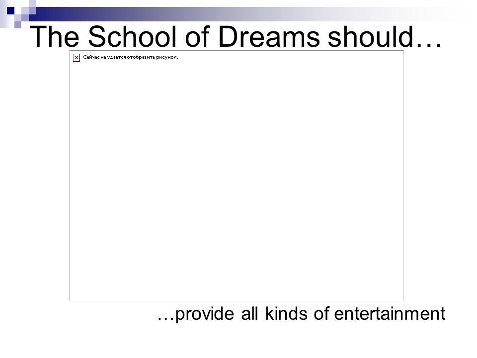 The School of Dreams should… …have strong facade