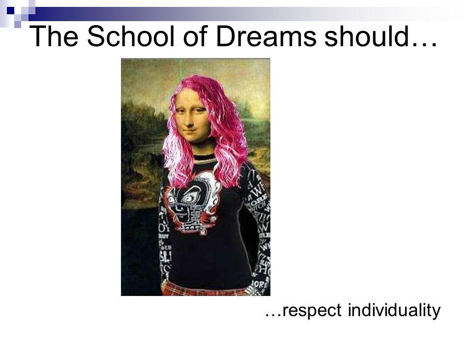 The School of Dreams should… …make impression!