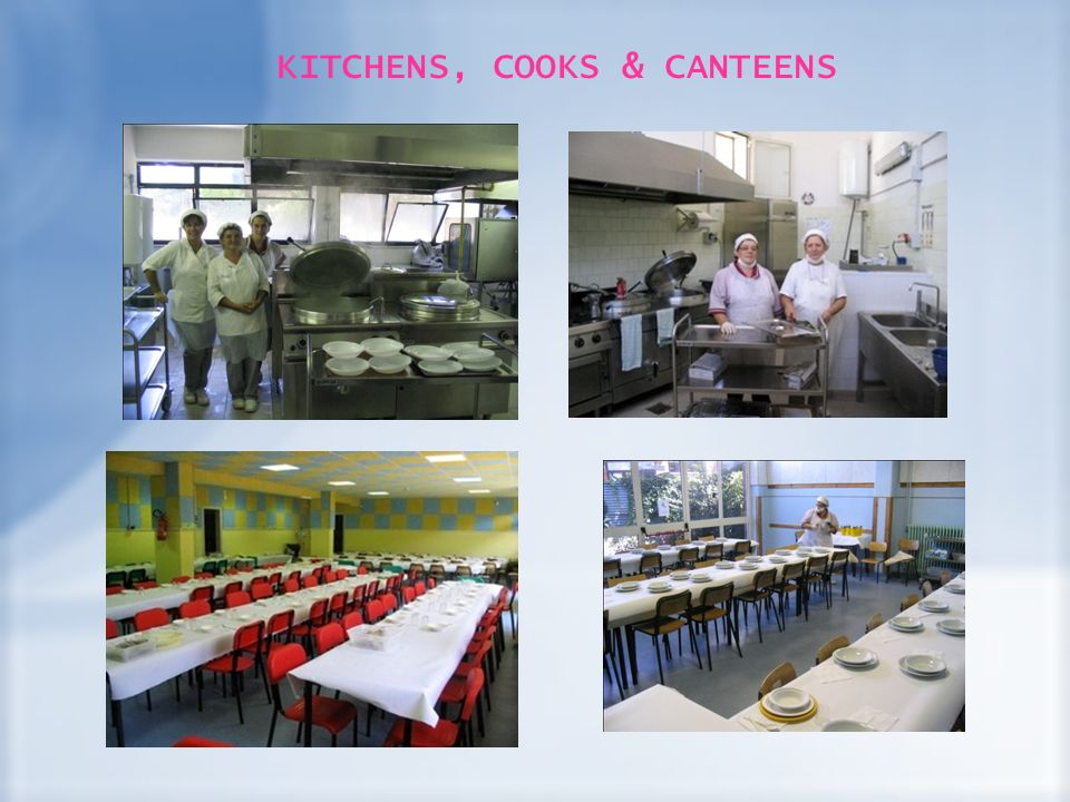 KITCHENS, COOKS & CANTEENS