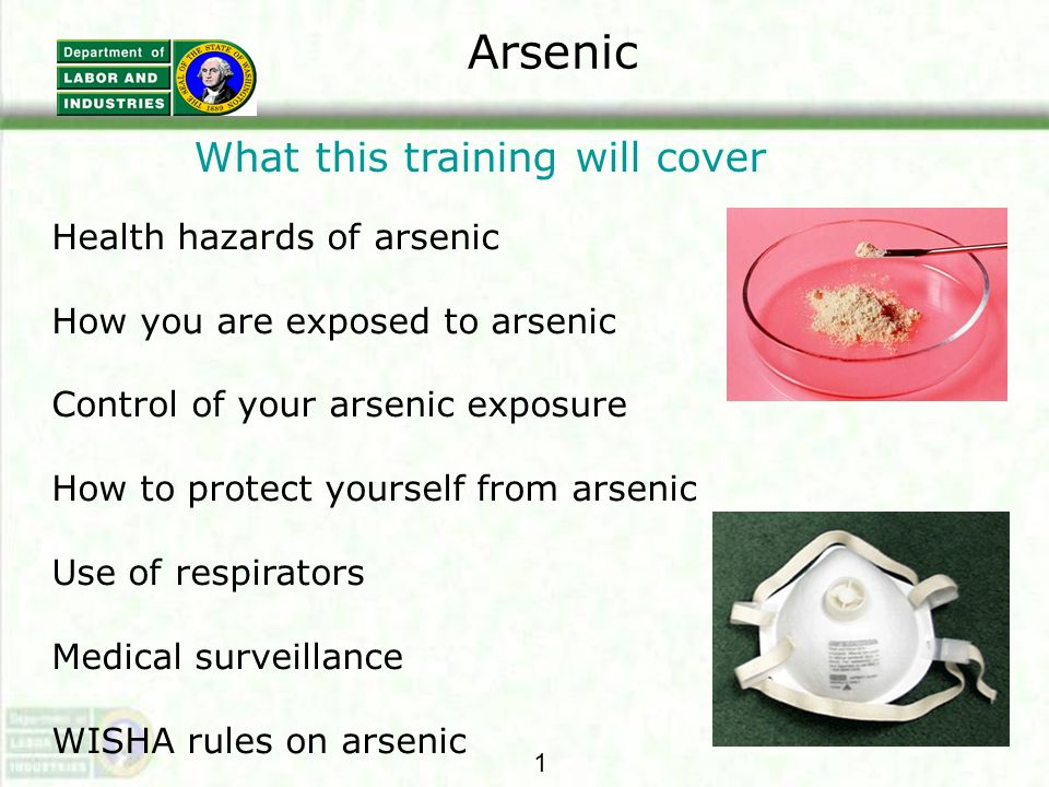 More on Medical Exams We will provide additional medical exams if you develop any signs or symptom associated with arsenic.
