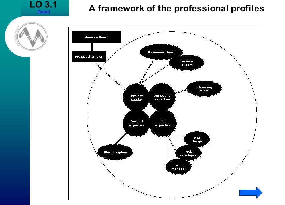LO 3.1 Detail A framework of the professional profiles