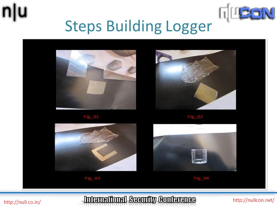 Steps Building Logger http://null.co.in/ http://nullcon.net/