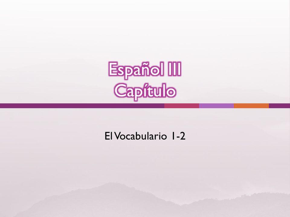 El Vocabulario 1-2