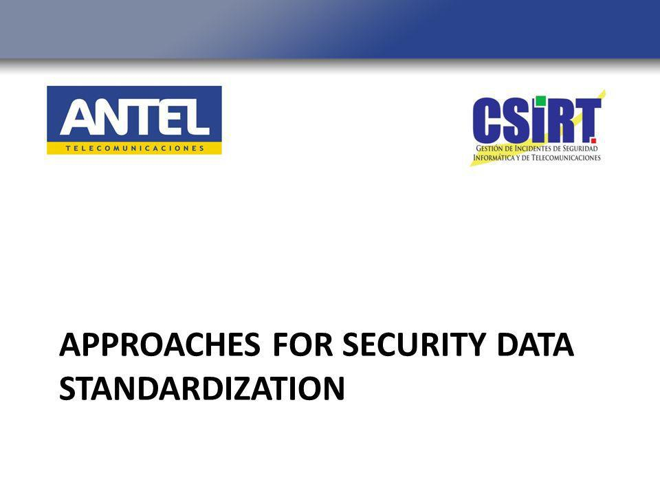 APPROACHES FOR SECURITY DATA STANDARDIZATION