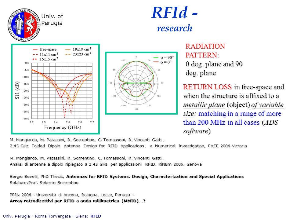 Univ. Perugia - Roma TorVergata - Siena: RFID Univ.