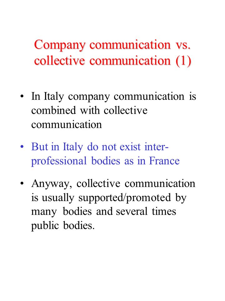 Company communication vs.