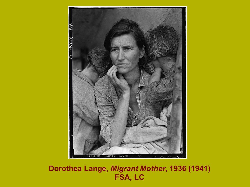 Mason-Dixon Map, 1861 Dorothea Lange, Migrant Mother, 1936 (1941) FSA, LC