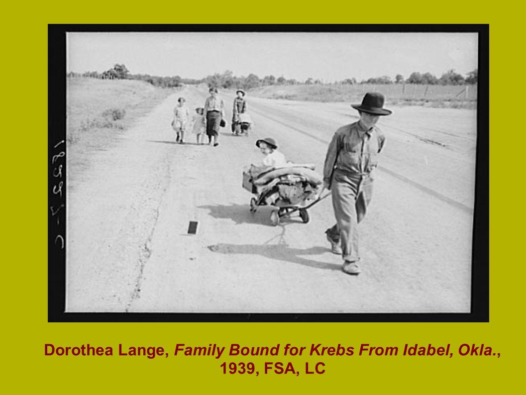 Dorothea Lange, Family Bound for Krebs From Idabel, Okla., 1939, FSA, LC