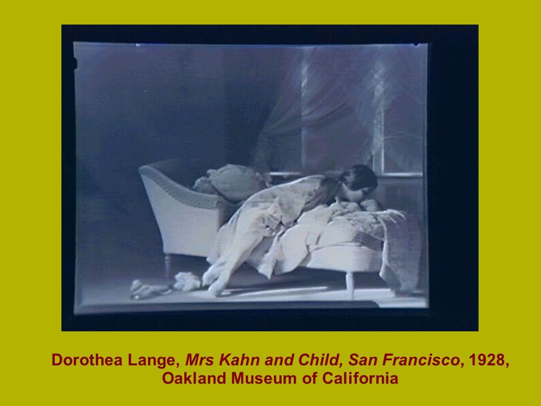 Dorothea Lange, Mrs Kahn and Child, San Francisco, 1928, Oakland Museum of California