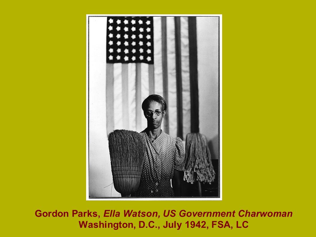 Gordon Parks, Ella Watson, US Government Charwoman Washington, D.C., July 1942, FSA, LC