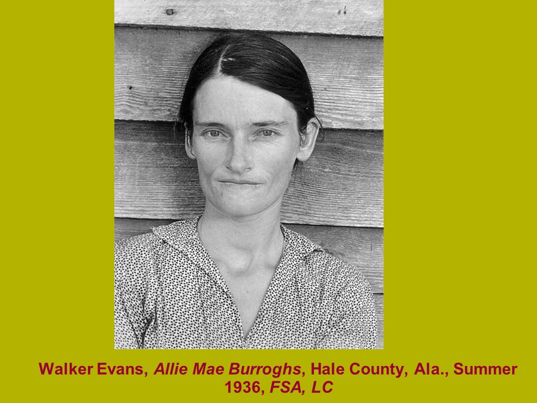Walker Evans, Allie Mae Burroghs, Hale County, Ala., Summer 1936, FSA, LC